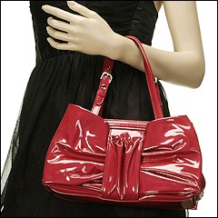 Moschino - Patent Leather Shoulder Bag B7501 (Red-Nikel Metal (0116)) - Bags and Luggage