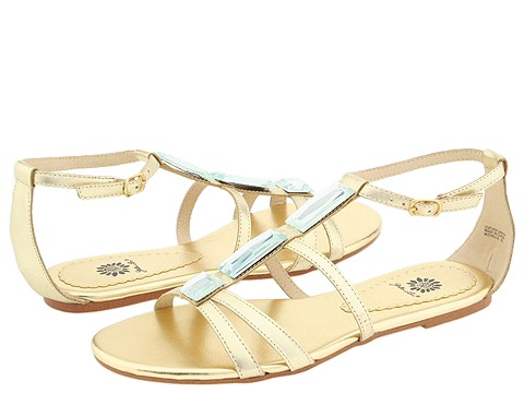 3034 654861 p - silver n gold flats