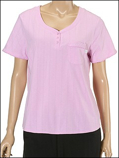 Karen Neuburger - Cloud Nine Short SleeveTop (Pink Petal) - Apparel