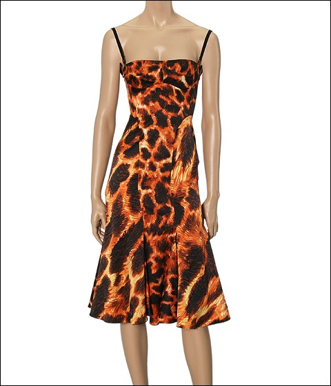 Just Cavalli Jaguar Dress Jaguar Print - Apparel