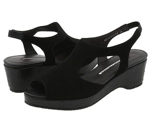 Donald J Pliner - Keena (Black Suede/Ostrich) - Footwear