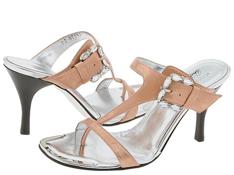 Donald J Pliner - Neona (Nude Antique Metallic Patent) - Footwear