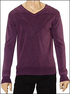Diesel - Kirol V-Neck Sweater (Purple) - Apparel