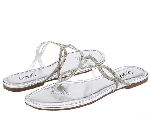 8521 661867 p - silver n gold flats