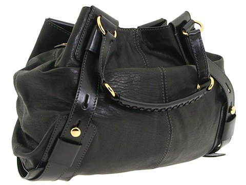 D&G Dolce & Gabbana Large Hobo Shoulder Bag With Ring And Whip Stitch Handle Black - Bags and Luggage