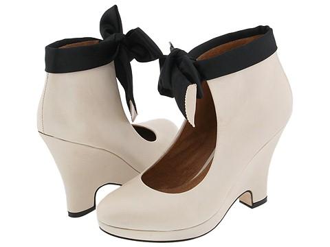 Corso Como - Dodie (Bone Vintage Calf/Black Satin) - Footwear