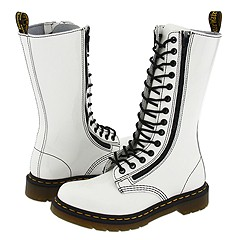 Dr. Martens - 9733 (White Patent) Boots