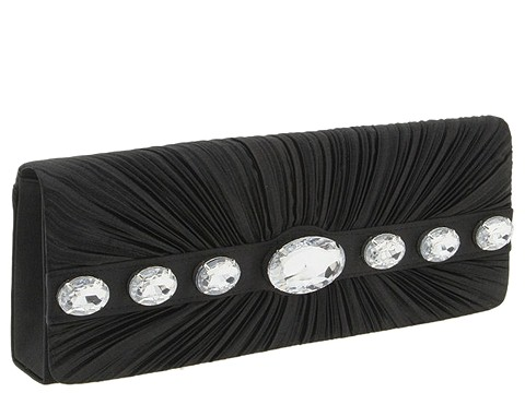 Jessica McClintock - East/West 7 Stone Clutch (Black) - Bags and Luggage