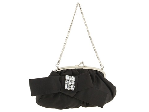 Jessica McClintock - Bow Stone (Black) - Bags and Luggage