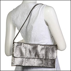 Jessica McClintock - Long Clutch (Pewter) - Bags and Luggage