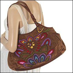 Lucky Brand Love Child E/W Embroidered Tote (Multi) - Handbags :  handbags lucky tote lucky brand