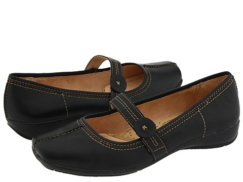 Naturalizer - Referee (Black Leather), wide width womens shoes, wide