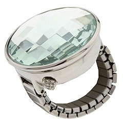 Betsey Johnson BJ9017 (Silver Band/Silver Case/Silver Dial) - Rings from zappos.com