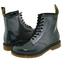 Dr. Martens - 1460 W (Black/Silver) Boots