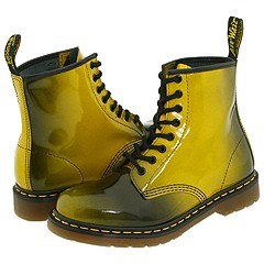 Dr. Martens - 1460 W (Black/Yellow) Boots