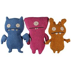 Uglydolls - Little Uglys 3-Pack Deer Ugly, Ice Bat, Wedgehead (Asst.) - Accessories