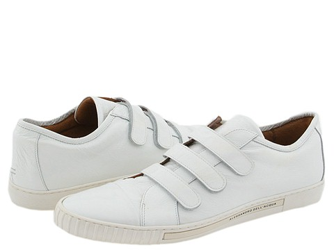 Alessandro Dell'Acqua - 1419 (White Crinkle Patent) - Footwear