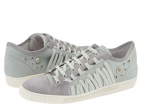 Alessandro Dell'Acqua - 1425 (Grey Canvas/Grey Suede) - Footwear