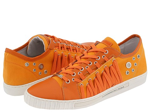 Alessandro Dell'Acqua - 1425 (Orange Canvas/Orange Suede) - Footwear