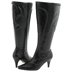 Bouquets - Shyloh (Wide Calf Boots) (Black Smooth) - Footwear