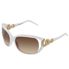 Roberto Cavalli - RC380S (White w/White/Gold Snake w/Gradient Brown Lens) - Eyewear