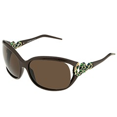 Roberto Cavalli - RC380S (Pearled Brown/Emerald Green Snake w/Brown Lens) - Eyewear
