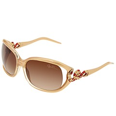 Roberto Cavalli - RC380S (Pearl Gold/Gold-Red Snake w/Gradient Brown Lens) - Eyewear