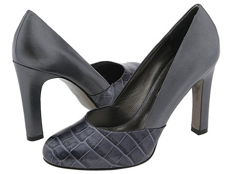 Via Spiga - Naomi (Graphite Metal Wash/Croc) - Footwear
