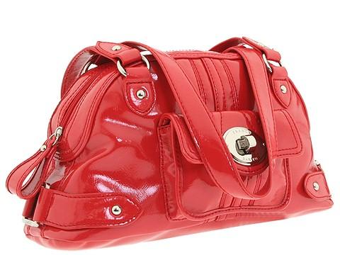 Franco Sarto - Morandi Patent Satchel (Tomato Red) - Bags and Luggage