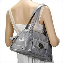 Franco Sarto - Morandi Patent Satchel (Grey) - Bags and Luggage