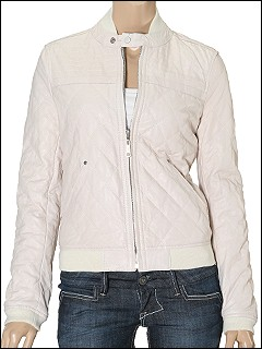 Diesel - Vieru Quilted Leather to Nylon Reversible Coat (Ivory) - Apparel