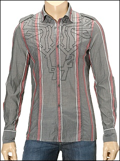 Diesel - Seraphiamo L/S Button Down (Grey Stripe) - Apparel