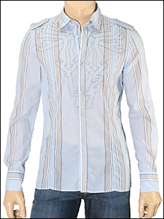 Diesel - Seraphiamo L/S Button Down (Blue Stripe) - Apparel