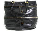 D&G Dolce & Gabbana - Victoria Shiny Calfskin Tote with Long Detachable Shoulder (Black) - Bags and Luggage