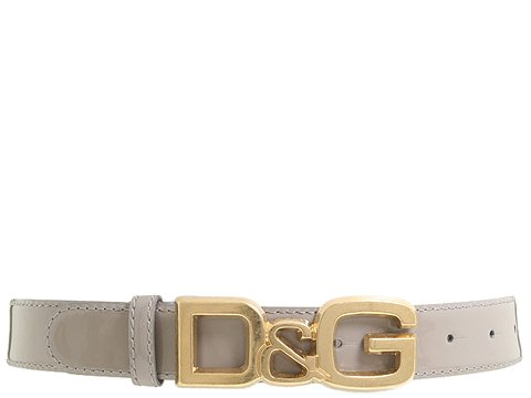 D&G Dolce & Gabbana - DC0694E1017/Flat Strap Belt (Grey) - Accessories