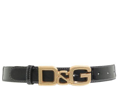 D&G Dolce & Gabbana - DC0694E1017/Flat Strap Belt (Black) - Accessories