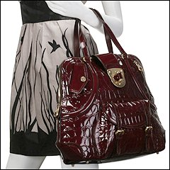 Alexander McQueen 193633-BCU0O (Burgundy/Burgundy) - Evening Handbags from zappos.com