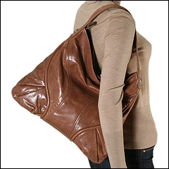 Francesco Biasia - Marie Large Top Zip Hobo (Caramel) - Bags and Luggage