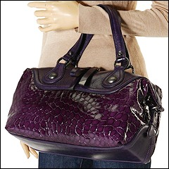 Francesco Biasia - Rose East/West Satchel (Purple) - Bags and Luggage