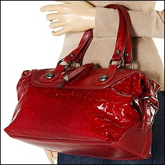 Francesco Biasia - Rose East/West Satchel (Berry) - Bags and Luggage