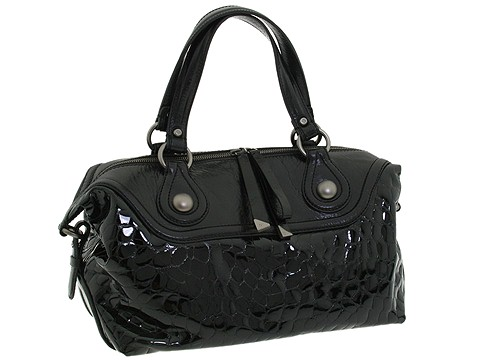 Francesco Biasia - Rose East/West Satchel (Black) - Bags and Luggage
