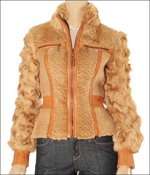 Just Cavalli - SO69C081060208 (Beige Rabbit Fur) - Apparel