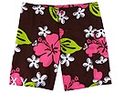 Roxy Kids - Butterfly Kisses Boardshort (Big Kids) (Cocoa Brown) - Apparel