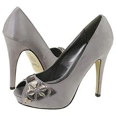 rsvp Neva (Pewter Satin) - Prom :  prom heels evening satin