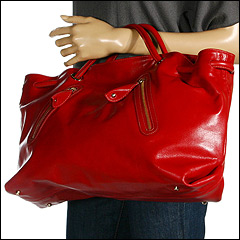 Furla Handbags - Carmen Zipper Extra Large Shopper (Geranio - Red) - Bags and Luggage