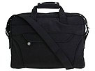 Perlina Handbags - Large Nylon Computer Tote (Black) - Bags and Luggage