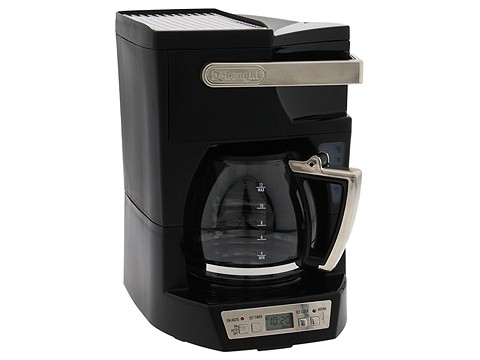 DeLonghi - Complete Frontal Access Programmable Coffee Maker (Black) - Home