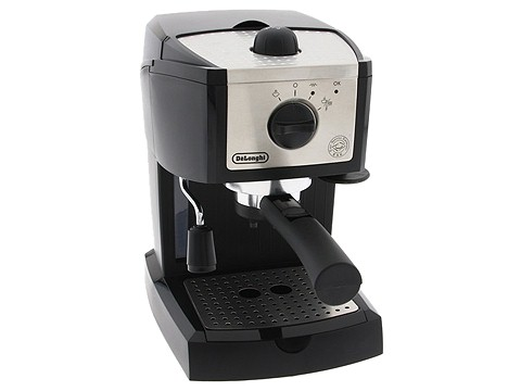 DeLonghi - Pump Driven Espresso/Cappuccino Machine (Black/Silver) - Home