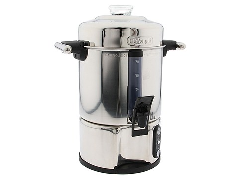 DeLonghi - 20 to 50 Cup Ultimate Coffee Urn With Freshness Indicator (Stainless Steel) - Home