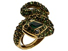 Kenneth Jay Lane Snake Ring (Gold/Military Green) Ring
